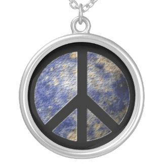 BlogBlast For Peace Sterling Silver Plate Necklace
