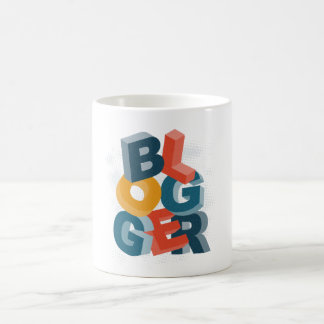 Blogger 3D Letters Classic White Coffee Mug