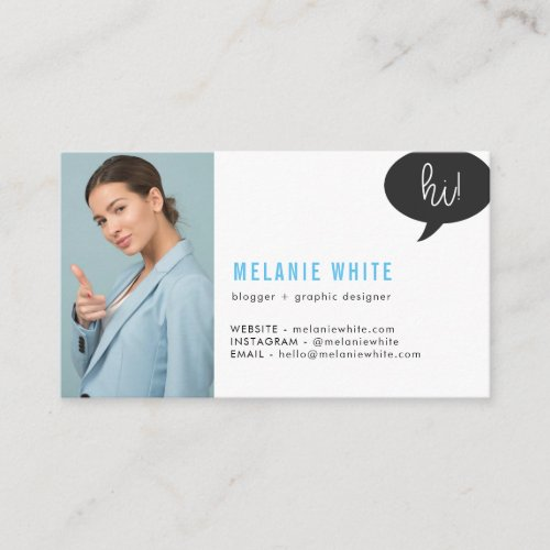 Blogger and Graphic Designer Business Card
