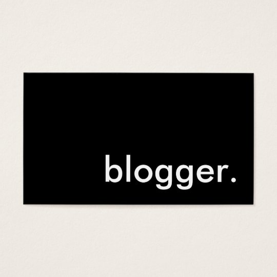blogger. business card