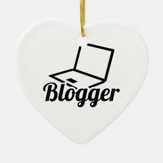 Blogger Ceramic Ornament