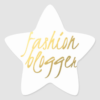 Blogger de la moda - escritura del oro calcomanía forma de estrellae