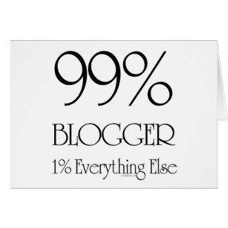 Blogger del 99% tarjeta de felicitación