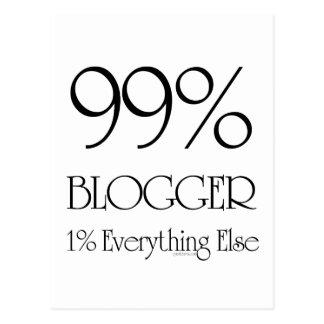 Blogger del 99% tarjetas postales