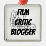 Blogger del crítico de cine adorno de reyes