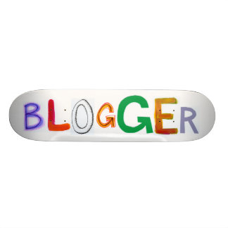 Blogger fun colorful art words blog blogging skate deck