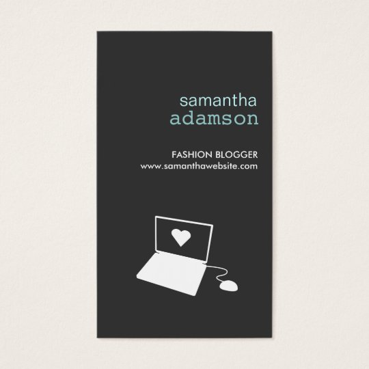 BLOGGER in GRAY Business Card
