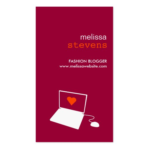 BLOGGER in RED Business Card