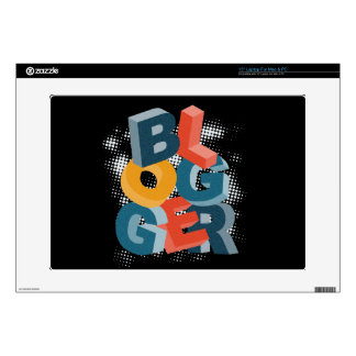 Blogger Letters Blocks Decal For Laptop