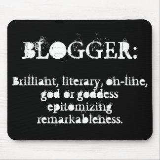 Blogger Mousepad (negro) Alfombrillas De Ratones