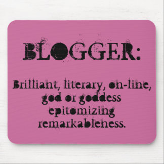 Blogger Mousepad (Raspberry)