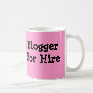 Blogger para la taza de café del alquiler, taza de