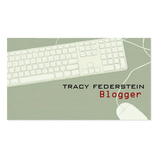 Blogger Profile Cards Double-Sided Standard Business Cards (Pack Of 100)