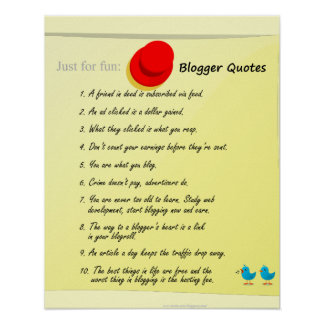 Blogger Quotes Poster