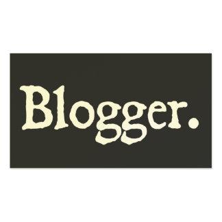 Blogger Tarjetas De Negocios