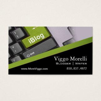Blogger Writer Editor Internet WordPress Blog Business Card