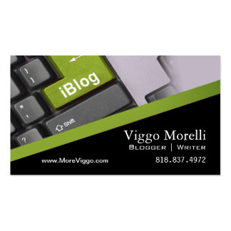 Blogger Writer Editor Internet WordPress Blog Double-Sided Standard Business Cards (Pack Of 100)