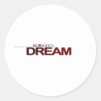 Bloggers Dream Classic Round Sticker