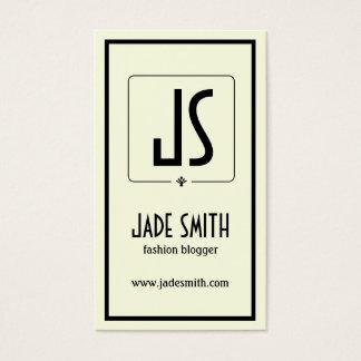 Bloggers Minimalistic Black Cream Off White Business Card