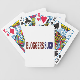 Bloggers Suck Bicycle Playing Cards