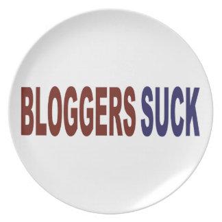 Bloggers Suck Melamine Plate