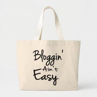 Bloggin' Ain't Easy Tote Bag Jumbo Tote Bag