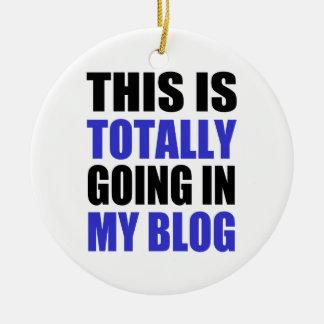 Blogging Ceramic Ornament