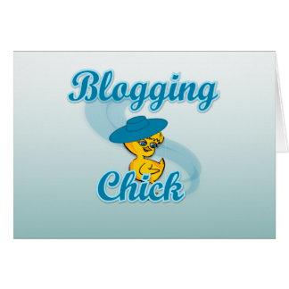 Blogging Chick #3 Card
