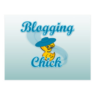 Blogging Chick #3 Postcard