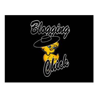 Blogging Chick #4 Postcard