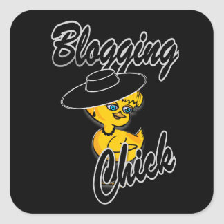 Blogging Chick #4 Square Sticker