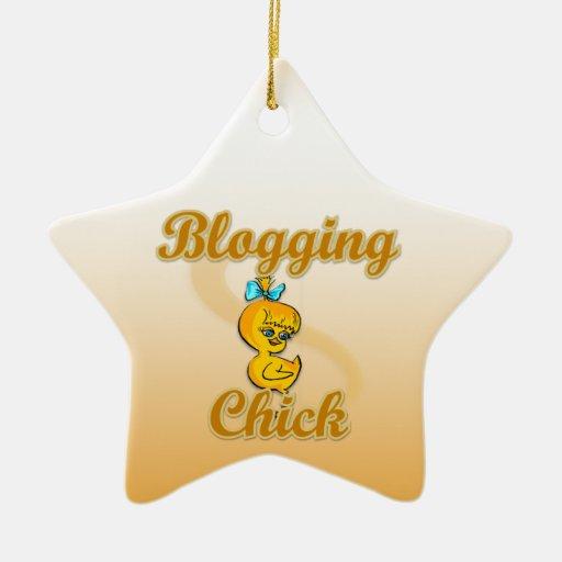 Blogging Chick Christmas Tree Ornament