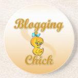 Blogging Chick Coaster