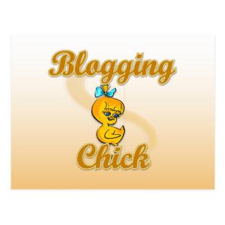 Blogging Chick Postcard