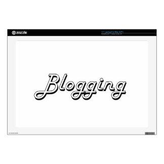 """Blogging Classic Retro Design 17"""" Laptop Decals"""