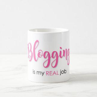 Blogging is my REAL job Coffee Mug