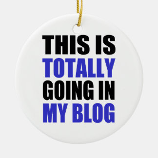Blogging Christmas Ornament