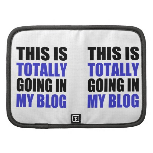 Blogging Folio Planners