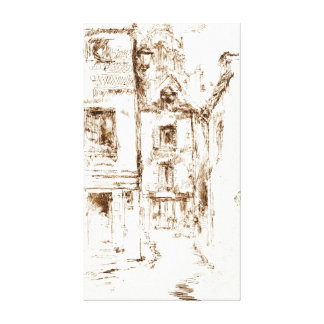 Blois Cathedral Neighborhood 1880 Stretched Canvas Print