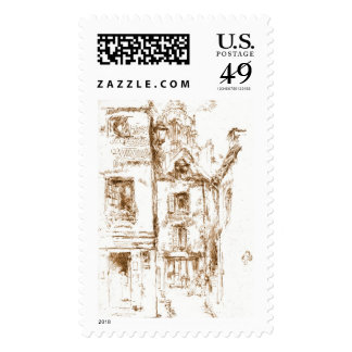 Blois Cathedral Neighborhood 1880 Postage Stamp