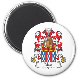Blois Family Crest 2 Inch Round Magnet
