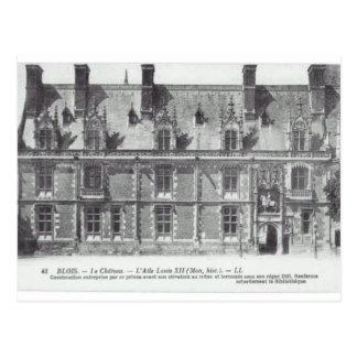 Blois, le chateau; France Postcard