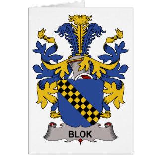 Blok Family Crest Card
