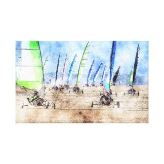 Blokart Race Canvas Print