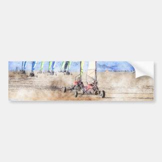 Blokart Racers on the Beach Bumper Sticker