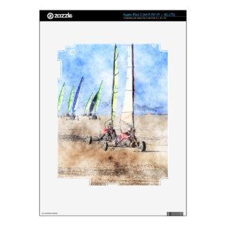 Blokart Racers on the Beach iPad 3 Skin