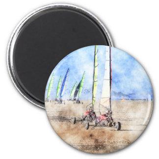 Blokart Racers on the Beach Magnet