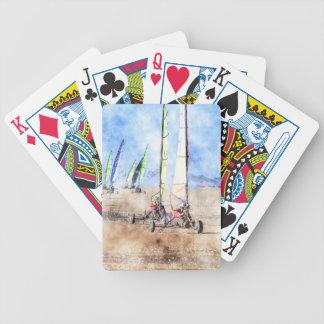 Blokart Racers on the Beach Poker Deck