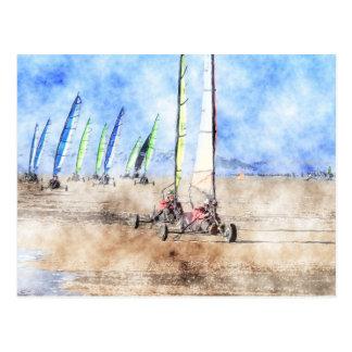 Blokart Racers on the Beach Postcard
