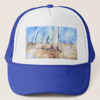 Blokart Racers on the Beach Trucker Hat